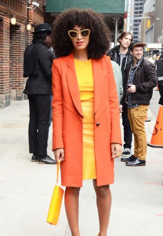 Naranja con amarillo